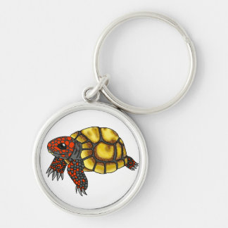 Cherry-Head Red-Footed Tortoise keychain
