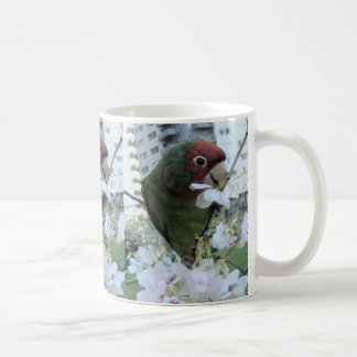 Cherry Headed Parakeet Coffee Mug