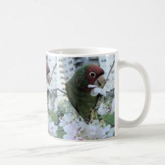 Cherry Headed Parakeet Coffee Mug