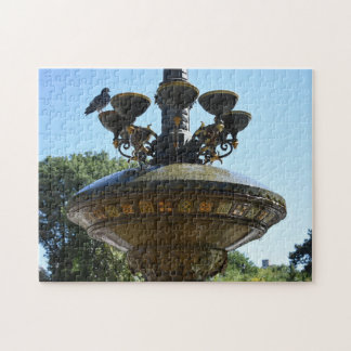 Cherry Hill Fountain Central Park NYC Photography Jigsaw Puzzle