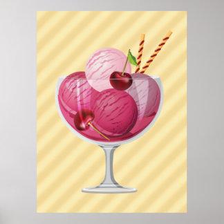 Cherry Ice Cream Poster