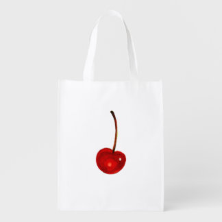 Cherry Illustration Reusable Grocery Bag