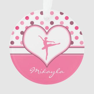 Cherry Inspired Pink Polka-Dots Ballet Dancer Ornament