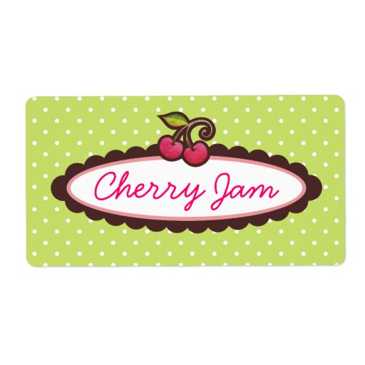 Cherry Jelly Marmalade Jam Labels