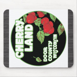 Cherry Land Door County Wisconsin, Vintage Mouse Pad