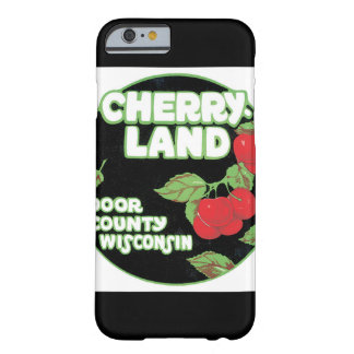 Cherry Land Wisconsin Vintage Travel Poster Barely There iPhone 6 Case