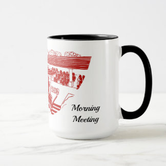 Cherry Lawn Morning Meeting Mug Red