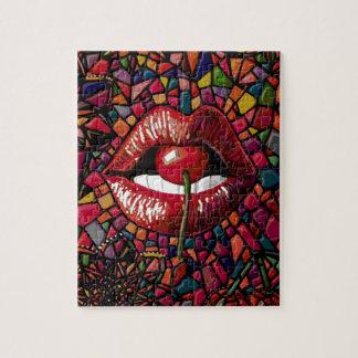 Cherry Lips Mosaic Jigsaw Puzzle