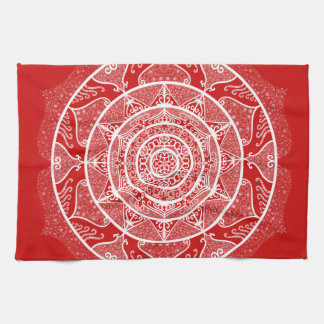 Cherry Mandala Kitchen Towel