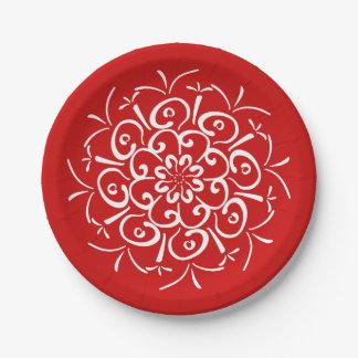 Cherry Mandala Paper Plate