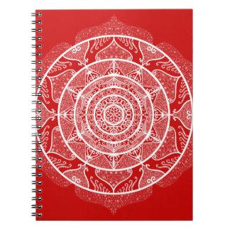 Cherry Mandala Spiral Notebook