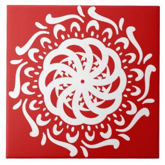 Cherry Mandala Tile