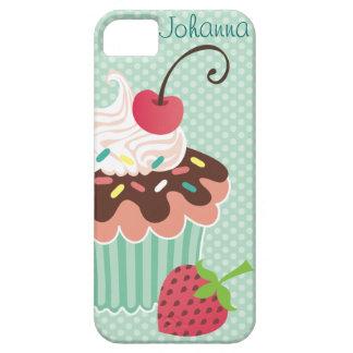 Cherry & Mint Cupcake iPhone 5 Case-Mate Case