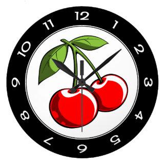Cherry Pair Large Clock