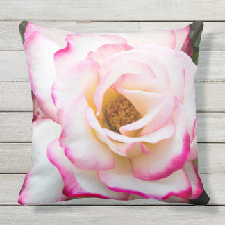 Cherry Parfait Rose Throw Pillow