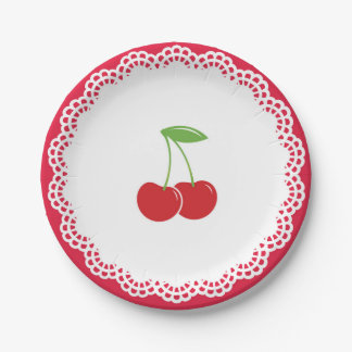 Cherry Party Dessert Plate