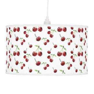 Cherry Pattern Cherries Fruits Summer Cute Cherry Pendant Lamp