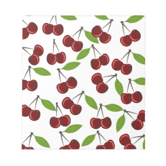 Cherry pattern notepads