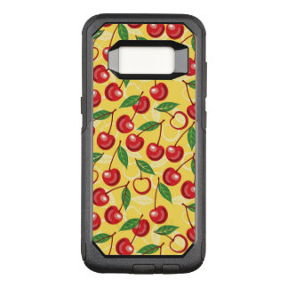 Cherry pattern OtterBox commuter samsung galaxy s8 case