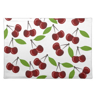 Cherry pattern placemat