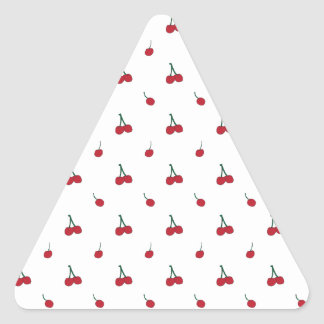 Cherry Pattern Triangle Sticker