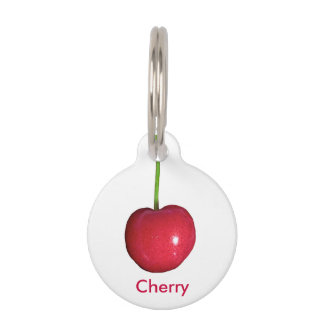 Cherry Pet Name Tag