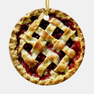 Cherry Pie Ceramic Ornament