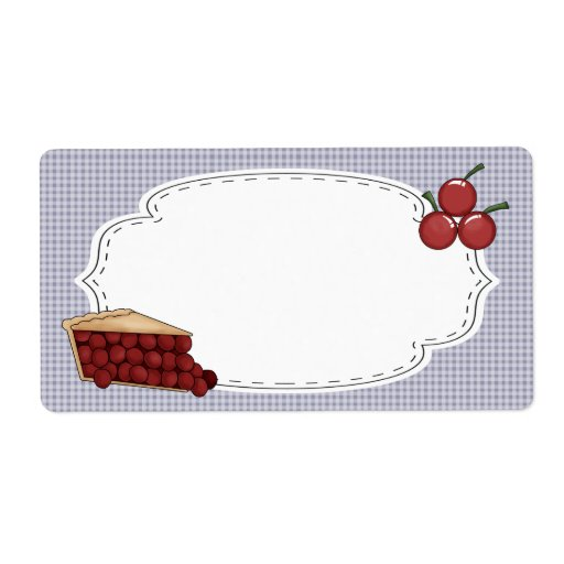 Cherry Pie Label Shipping Labels