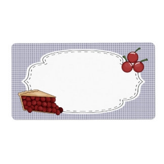 Cherry Pie Label Shipping Label