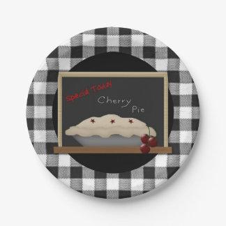 Cherry Pie Paper Plate