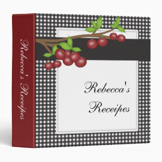 Cherry Pie Personalize Receipe Book Binder
