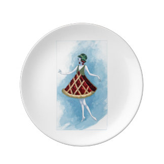Cherry Pie Plate Porcelain Plates