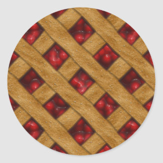 Cherry Pie, Red Cherries, Dessert, Pie, Bakery Classic Round Sticker