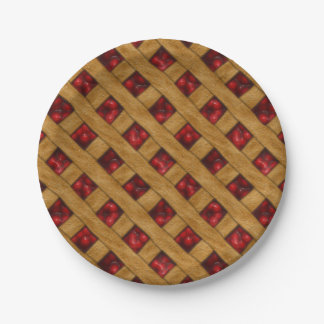 Cherry Pie, Red Cherries, Dessert, Pie, Bakery Paper Plate
