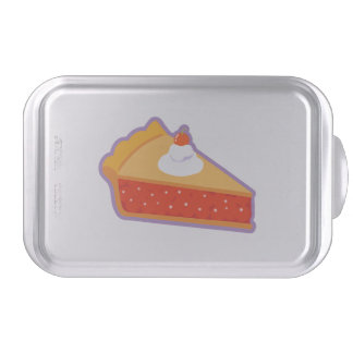 Cherry pie with whipped cream cake tin