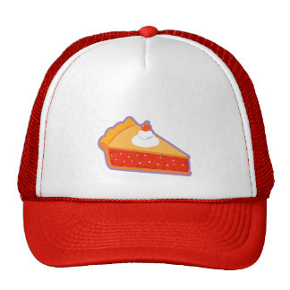 Cherry pie with whipped cream mesh hat