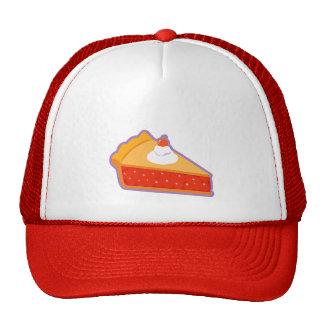Cherry pie with whipped cream trucker hat