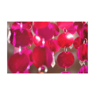 Cherry Pink Hanging Discs Canvas Print