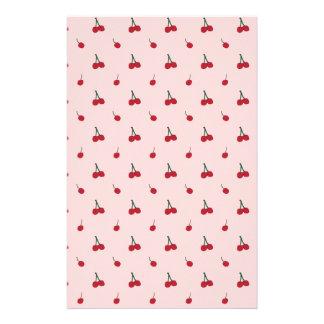 Cherry Pink Pattern Stationery