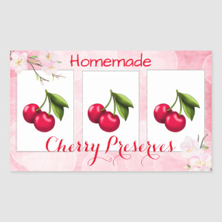 Cherry Preserves Canning Label