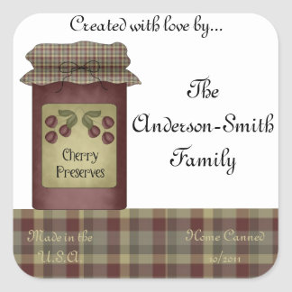 Cherry Preserves Jar Label (Personalize)