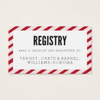Cherry Red Carnival Stripes Registry Insert Card