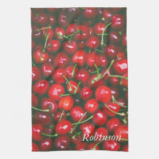Cherry Red Fruit Personalised Kitchen Towel
