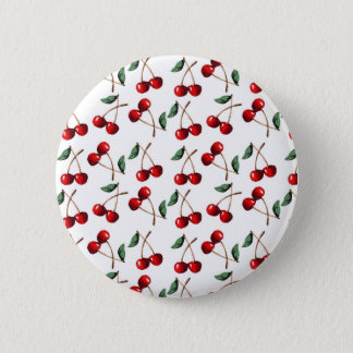 Cherry Red Pattern 2 Inch Round Button