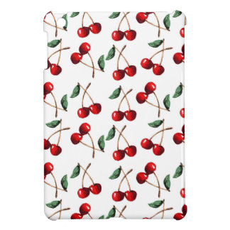 Cherry Red Pattern iPad Mini Cover