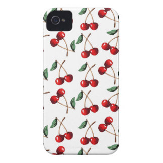 Cherry Red Pattern iPhone 4 Case-Mate Case