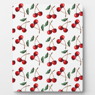 Cherry Red Pattern Plaque