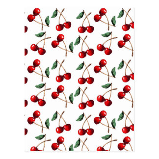 Cherry Red Pattern Postcard