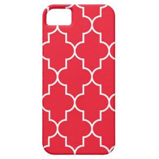 Cherry Red Quatrefoil iPhone 5 Cover