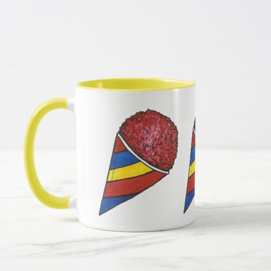 Cherry Red Shaved Ice Snocone Sno Cone Summer Food Mug